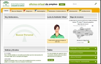Empleo lanza una nueva oficina virtual del sae con 67 for Oficina virtual del